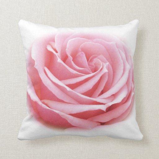 Almohada color de rosa rosada bonita