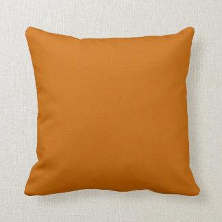Almohada coloreada sólido del naranja del marrón d