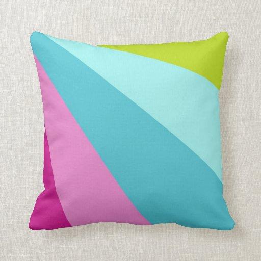Almohada colorida de la raya cojín decorativo