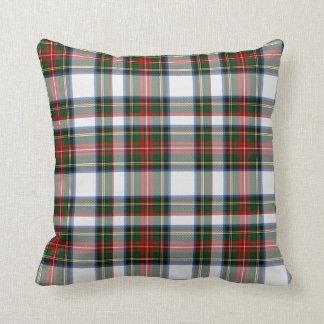 Almohada colorida de la tela escocesa de tartán de