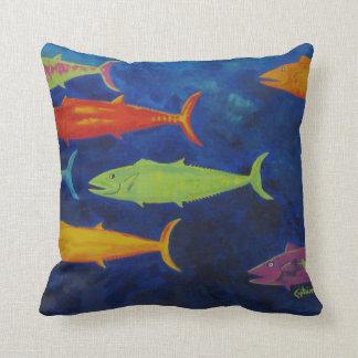 almohada colorida de los pescados