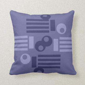 Almohada con Datelles Decorativos Tonos de Grises
