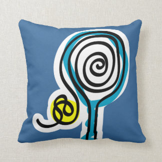Almohada con diseño de la estafa de tenis