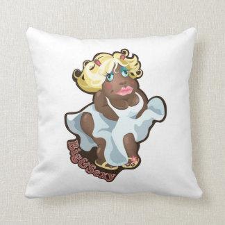 Almohada con el carácter divertido del hipopótamo