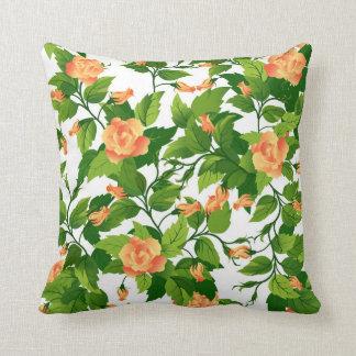 Almohada con inconsútil color de rosa anaranjado cojín decorativo