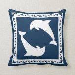 Almohada con los delfínes