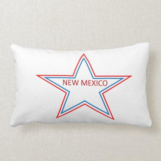 Almohada con New México en una estrella