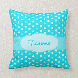 Almohada conocida del lunar de los chicas azules d
