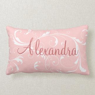 Almohada conocida personalizada rosa bonito