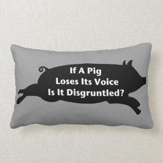 Almohada contrariedad del cerdo