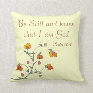 Almohada cristiana del salmo 46 10 del salmo