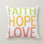 Almohada cristiana inspirada del amor de la espera