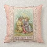 Almohada cuadrada de los ángeles del vintage