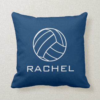Almohada cuadrada del voleibol de los azules cojín decorativo