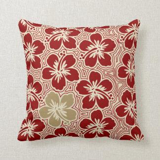 Almohada cuadrada reversible hawaiana del hibisco
