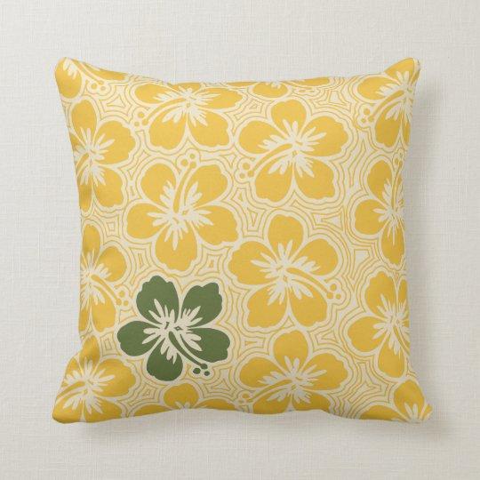 Almohada cuadrada reversible hawaiana del hibisco cojín decorativo