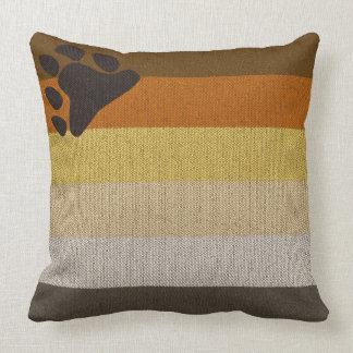 Almohada cuadrada rústica del diseño del mosaico