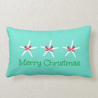 Almohada de 3 Felices Navidad de las estrellas de