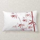 Almohada de bambú roja