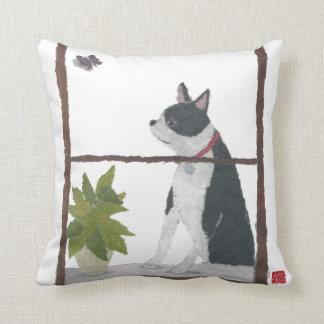 Almohada de Boston Terrier Cojín Decorativo