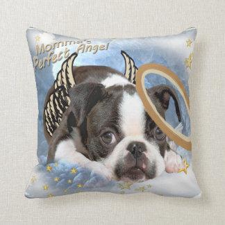 Almohada de Boston Terrier del ángel de Lil de Mom