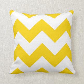 Almohada de Chevron con zigzag del amarillo del Fr