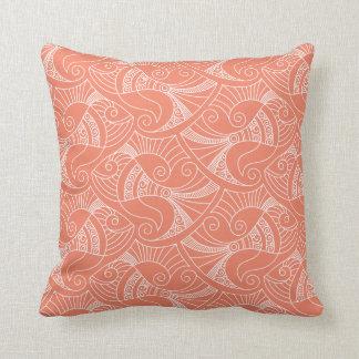 almohada de color salmón rosada del modelo el | de