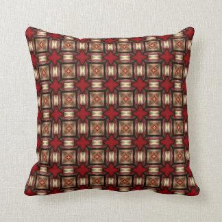 Almohada de color topo del moreno de color rojo