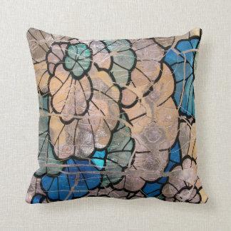 Almohada de cristal azul del cuadrado del