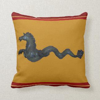 Almohada de cristal veneciana del caballo de Muran
