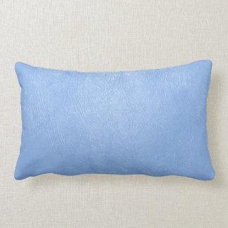 almohada de cuero azul clara de la textura