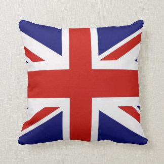 Almohada de doble cara del Union Jack británico de