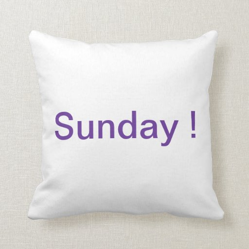 Almohada de domingo