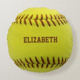Almohada de encargo de la bola del softball cojín redondo