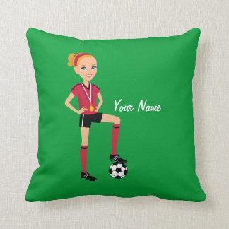 Almohada de encargo de la decoración del fútbol