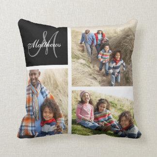 Almohada de encargo del collage de la foto del cojín decorativo