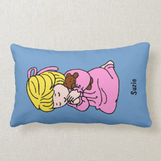 Almohada de encargo del rezo de la niña: Pelo Cojín Lumbar