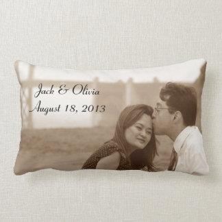 Almohada de encargo personalizada de la foto cojín lumbar