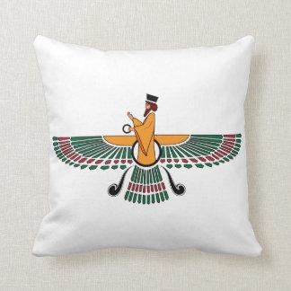 Almohada de Farvahar del persa Cojín Decorativo