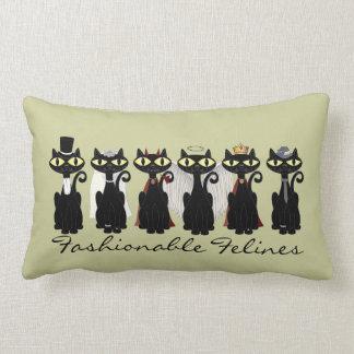 """Almohada de """"Felines de moda"""""""