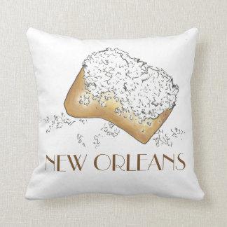 Almohada de Foodie de los pasteles de New Orleans Cojín Decorativo