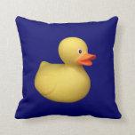 Almohada de goma azul del pato