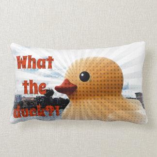 Almohada de goma del pato cojín lumbar