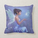 Almohada de hadas azul y púrpura de Opalite del ar
