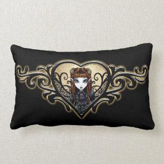 Almohada de hadas gótica del corazón del tatuaje
