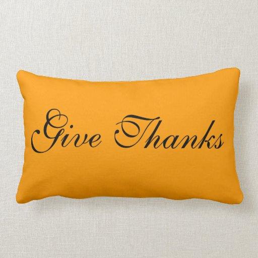 Almohada de la acción de gracias