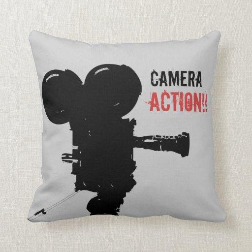 Almohada de la acción de la cámara