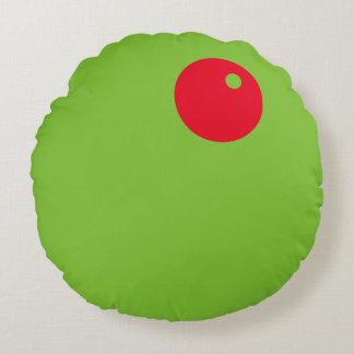 Almohada de la aceituna verde de Martini del Cojín Redondo