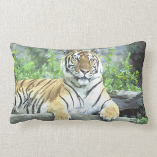 ¡Almohada de la acuarela del tigre siberiano!