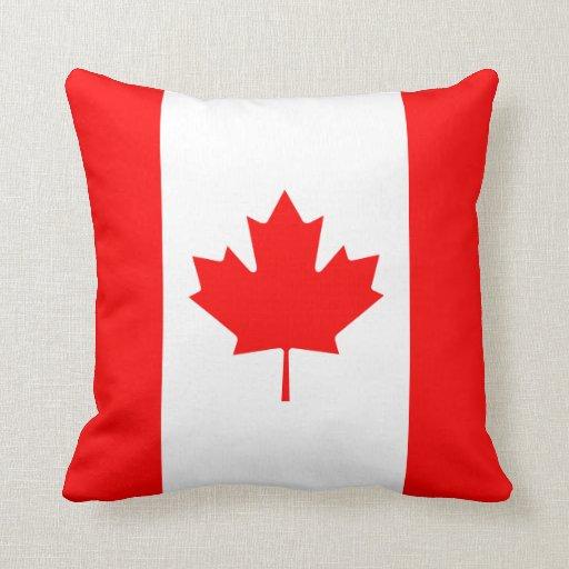Almohada de la bandera de Canadá